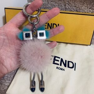 Fendi Mink Fur Chick Pompom Bag Charm